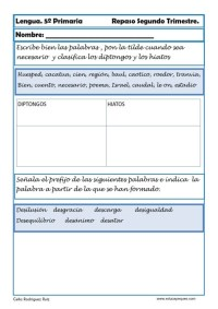 Fichas lengua quinto primaria 19