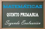 Matemáticas Quinto Primaria 2