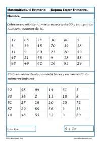 matematicas primero primaria 10