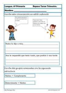 ejercicios lengua sexto primaria 05