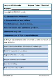 ejercicios lengua sexto primaria 19