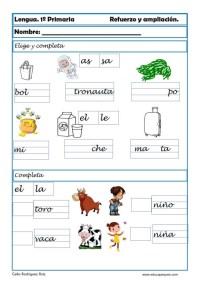 aprender repasar lengua primaria 12