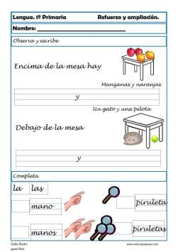 aprender repasar lengua primaria 16