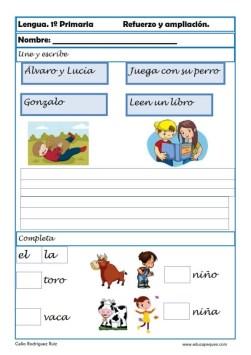aprender repasar lengua primaria 18