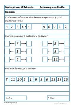 matemáticas primero primaria 05