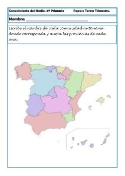 Fichas Conocimiento del medio sexto primaria 3 trimestre 06