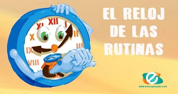 el reloj de las rutinas infantiles