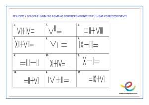 matematicas numeros romanos