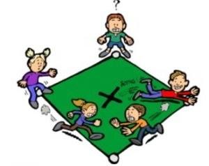 Cuatro esquinas juego tradicional