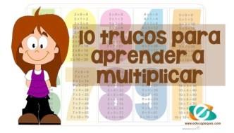 aprender a multiplicar, trucos multiplicar