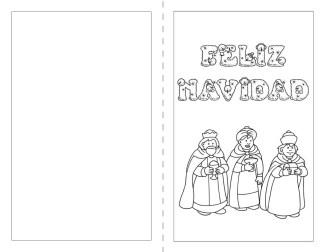 postales de navidad para imprimir y colorear