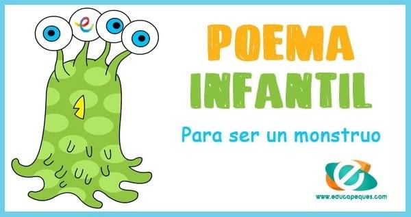 poesía de monstruos para niños