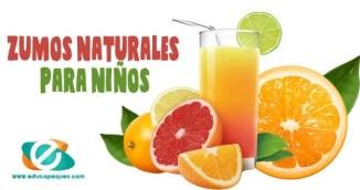 zumos naturales para niños