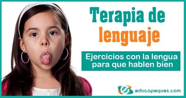 Terapia de lenguaje, ejercicios bucofaciales, Ejercicios con la lengua