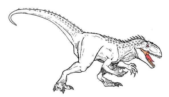 Indominux Rex colorear