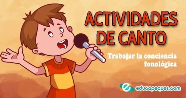 actividades de canto, conciencia fonológica