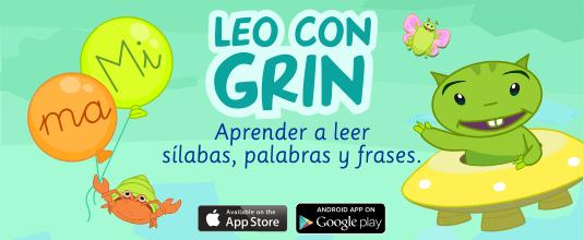 Aprender a leer y escribir app LEO CON GRIN