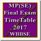 West Bengal 10th Class Final Exam Time Table 2017