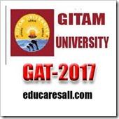 GAT-2017 GITAM University