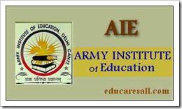 AIE Delhi Application form 2017 for B ed Admission