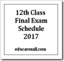 HS Final Exam Schedule and Routine –2017 Published by WBCHSE