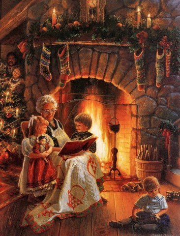 Donna Green Family Love avó a contar histórias no natal