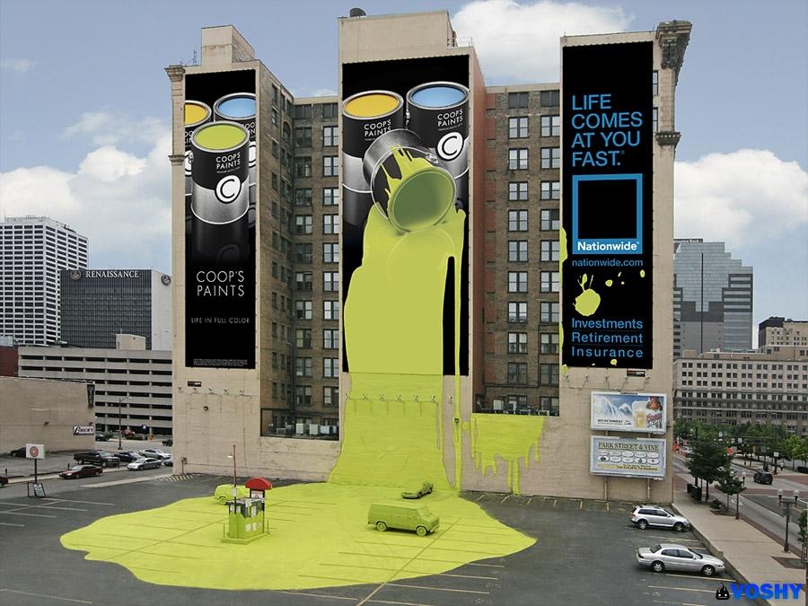 voshy funny billboards paint dscj