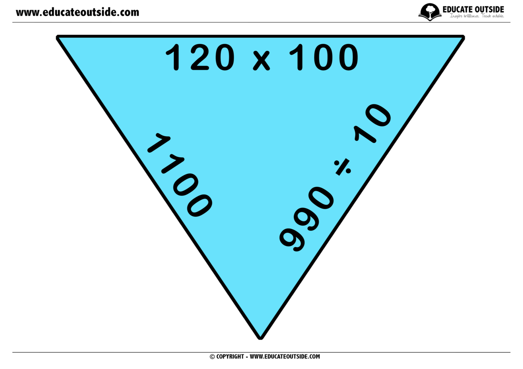 Place Value Multiplying By 10 100 Amp Tarsia Puzzle