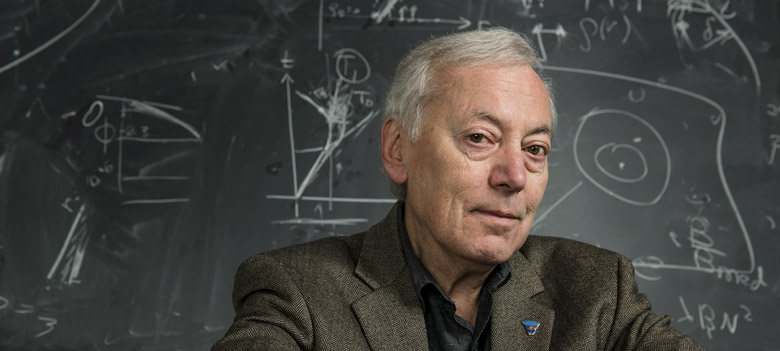 01/21/2016 - Medford/Somerville, Mass. - Alexander Vilenkin, Professor of Physics and Astronomy, poses for a photograph on January 21, 2016. (Alonso Nichols/Tufts University)
