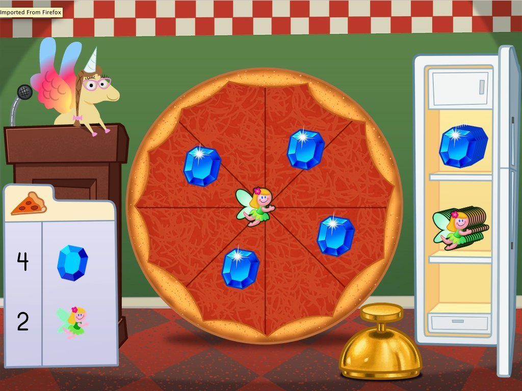 Counting Pizza Party Game Game Education