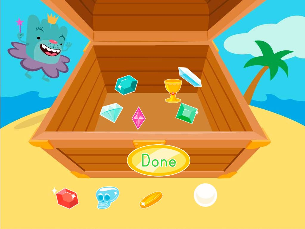 Subtraction Treasure Chest Game