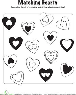 Heart Matching Game