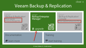 1 - Veeam Backup and Replication Installer Spash