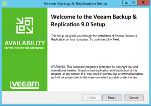 19 - Install Veeam Backup and Replication v9