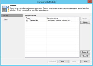 32 - Necessary Components update after upgrade to Veeam Backup and Replication v9