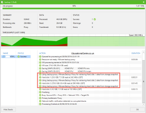 Veeam and Nimble Storage Integration - Backing up from a snapshot - Backup Job Session 02
