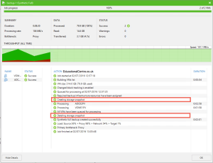 Veeam and Nimble Storage Integration - Backup from Snapshot - Job Session 02