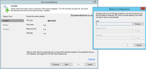 Veeam and Nimble Storage Integration - Restoring from Snapshot - Guest Files - Choose where to restore the VM