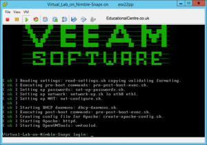 Veeam and Nimble Storage Integration - SureBackup - Virtual Lab Proxy Console Window