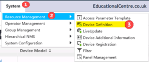 HP IMC System Resource Management Device Definition