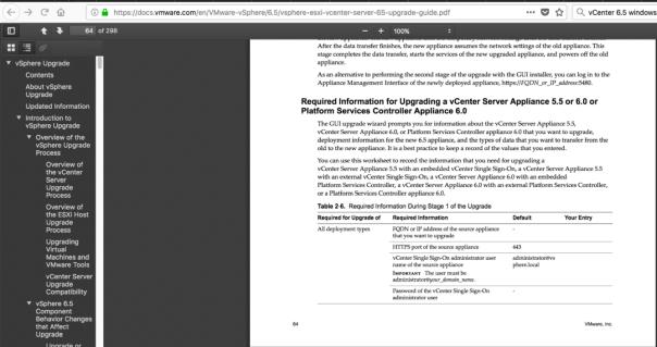 vSphere 6.5 upgrade guide pdf screenshot
