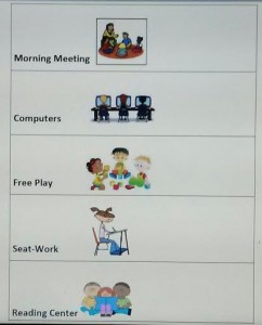 Classroom Schedule Autism