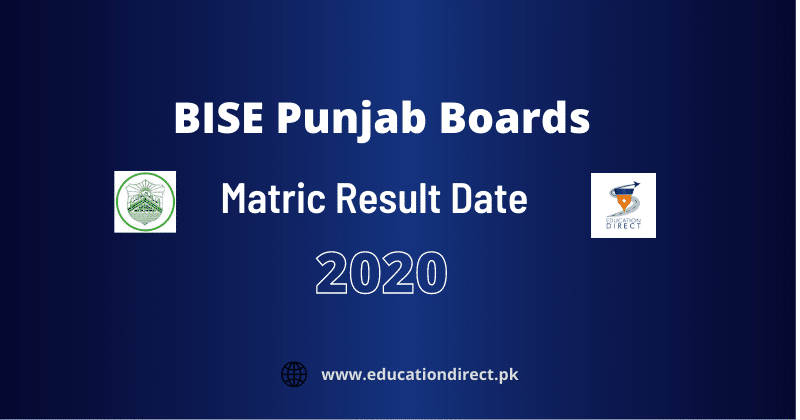 BISE Punjab Matric Result 2020 Date
