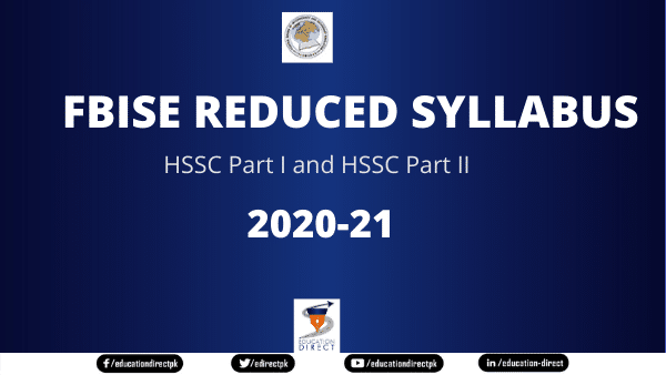 FBISE Intermediate Reduced Syllabus