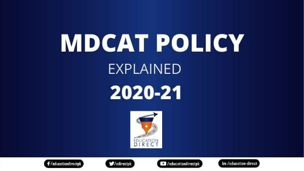 MDCAT policy and criteria