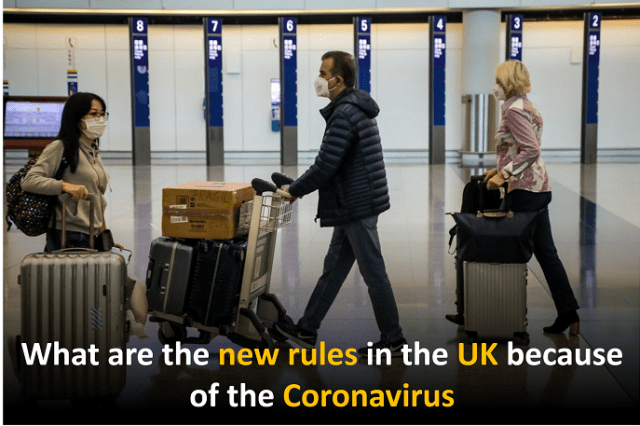 What are the new rules in the UK because of the Coronavirus