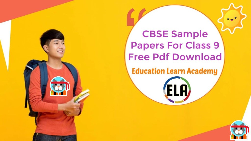 CBSE Sample Papers For Class 9