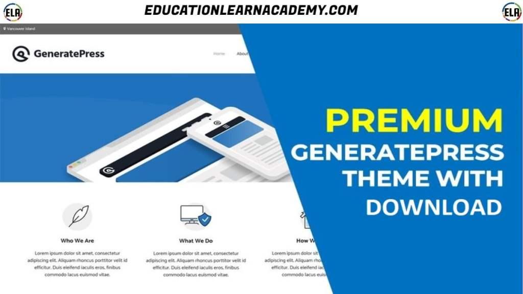 Free Download GeneratePress Premium