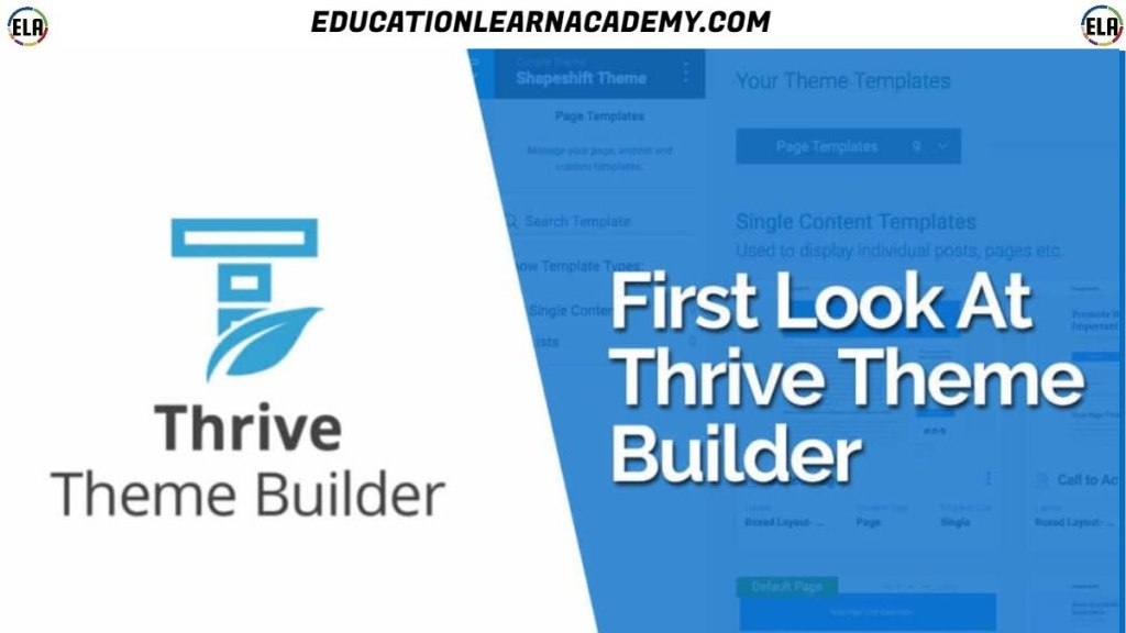 Free Download Thrive Theme Builder educationlearnacademy.com