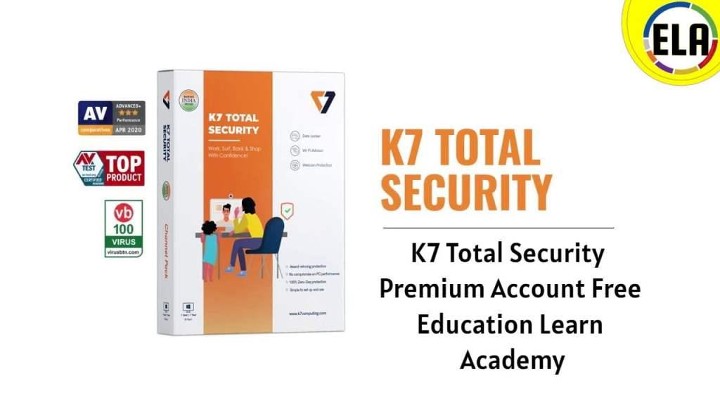 K7 Total Security Premium Account Free